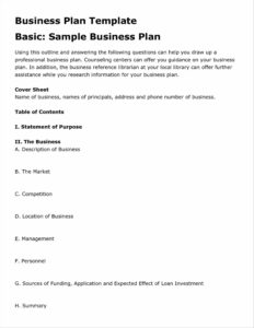 001 Business Plan Templates Free Word Marvelous Template for Business Plan Template Free Word Document