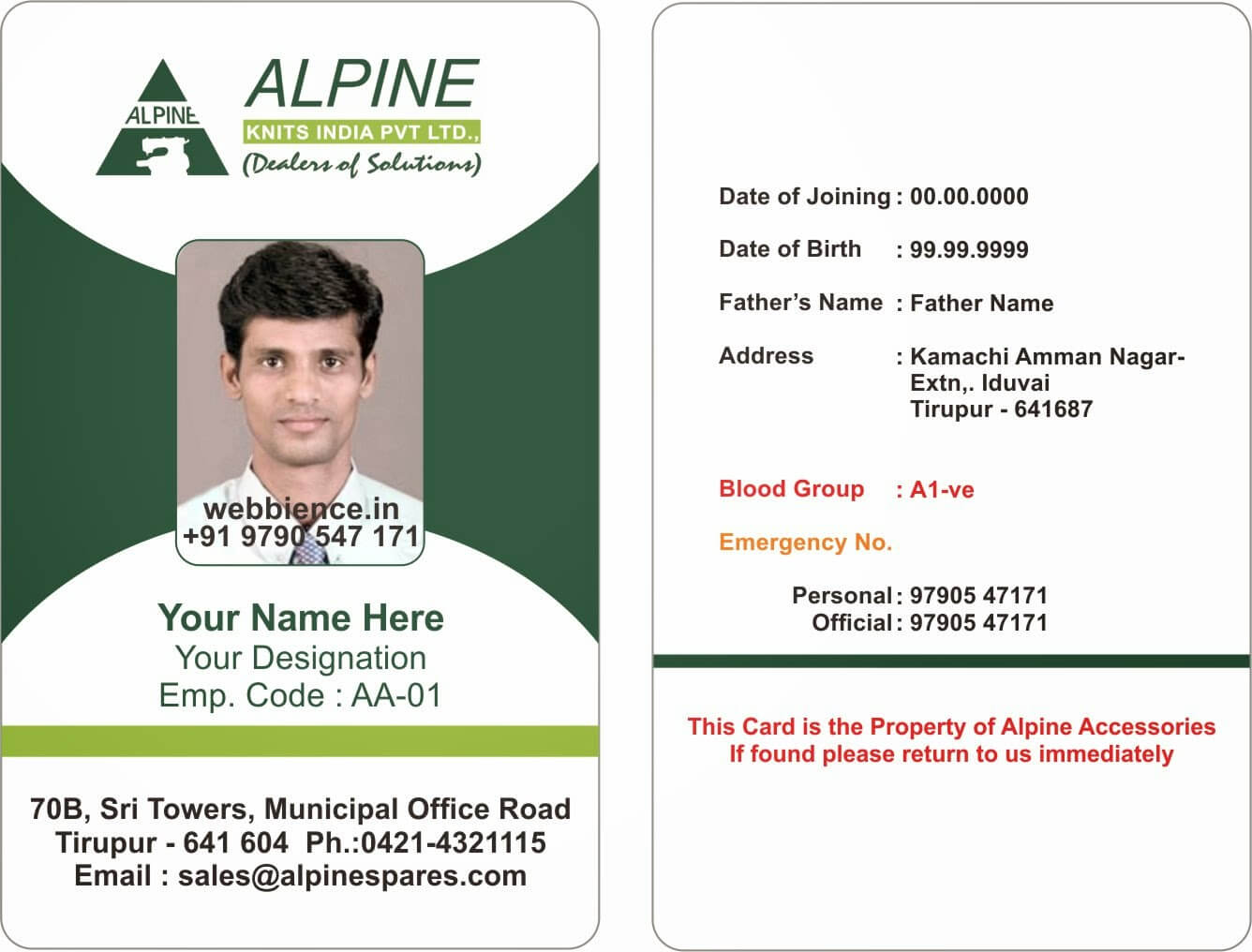 001 Employee Id Card Templates Template Ideas Alpine With Regard To Employee Card Template Word