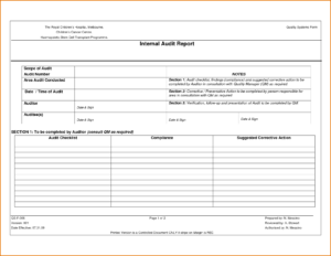 001 Internal Audit Report Template Unbelievable Ideas Format regarding Audit Findings Report Template