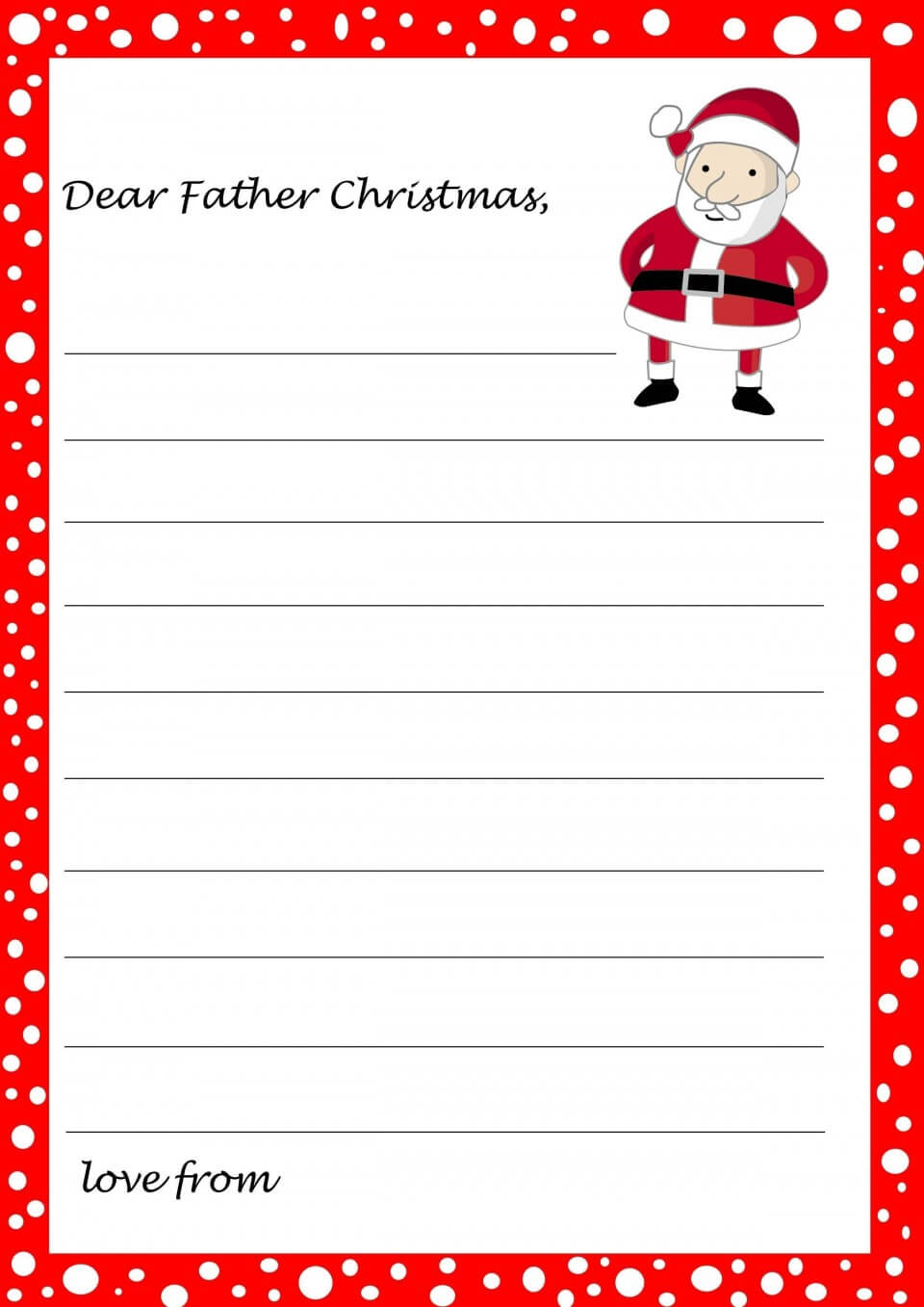 001 Letters From Santa Template Sensational Ideas Free Pdf With Santa Letter Template Word