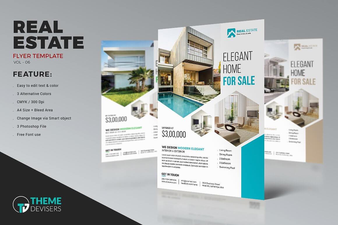 001 Real Estate Flyer Inside Real Estate Brochure Templates Psd Free Download