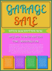 001 Template Ideas Garage Sale Flyer Free Printable Flyers Pertaining To Garage Sale Flyer Template Word