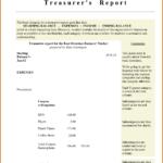 001 Template Ideas Non Profit Treasurer Report Sample With Regard To Treasurer Report Template
