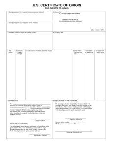 002 Certificate Of Origin Template Excel Usa Fresh pertaining to Nafta Certificate Template