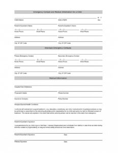 002 Emergency Contact Form Template Word Free Student in Enquiry Form Template Word