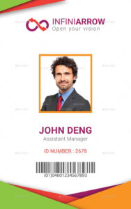 002 Employee Id Card Templates Multipurpose Business inside Id Card Template Ai