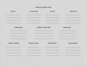 002 Football Depth Chart Template Blank Within Stirring inside Blank Football Depth Chart Template