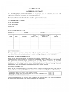002 Free Catering Contract Template Unbelievable Ideas Form regarding Catering Contract Template Word