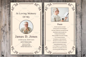 002 Memorial Card Template Free Download Singular Ideas intended for Remembrance Cards Template Free