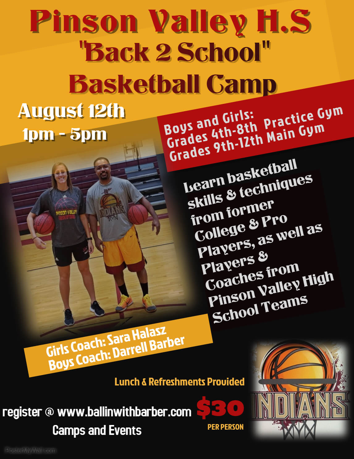 002 Template Ideas Basketball Camp Flyer Copy Of Made With For Basketball Camp Brochure Template