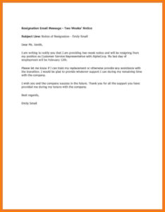 002 Week Notice Template Word Ideas Two Weeks Letter Example In 2 Weeks Notice Template Word