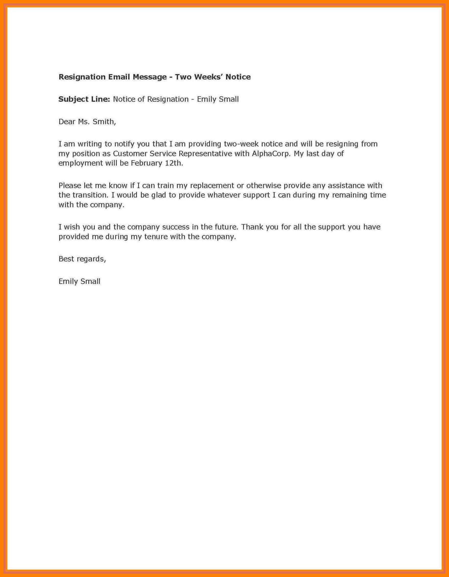 002 Week Notice Template Word Ideas Two Weeks Letter Example Inside Two Week Notice Template Word