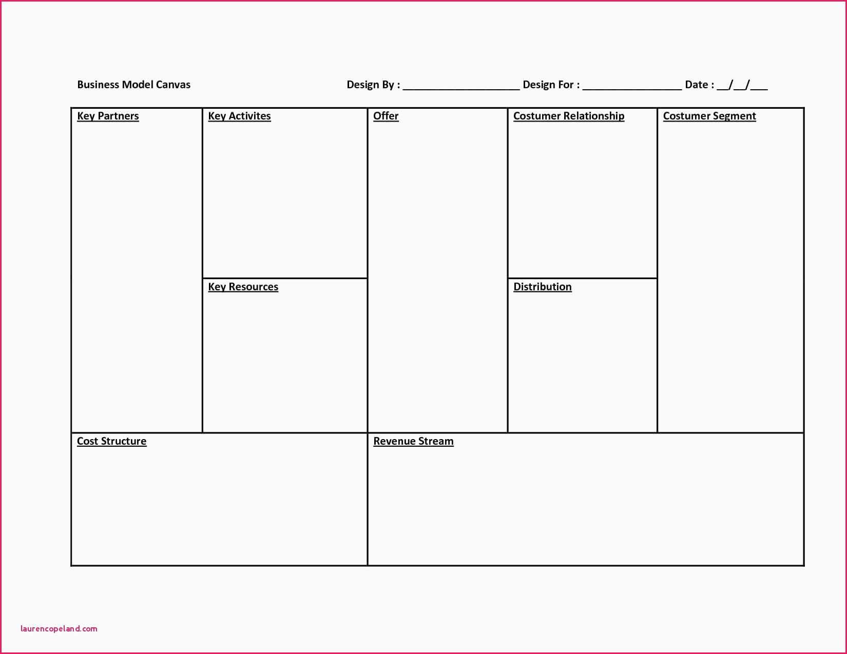 003 Business Model Canvas Template Word Ideas Excel Oder In Business Canvas Word Template