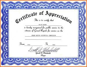 003 Certificate Of Appreciation Template Word Ideas Best intended for Free Certificate Of Appreciation Template Downloads