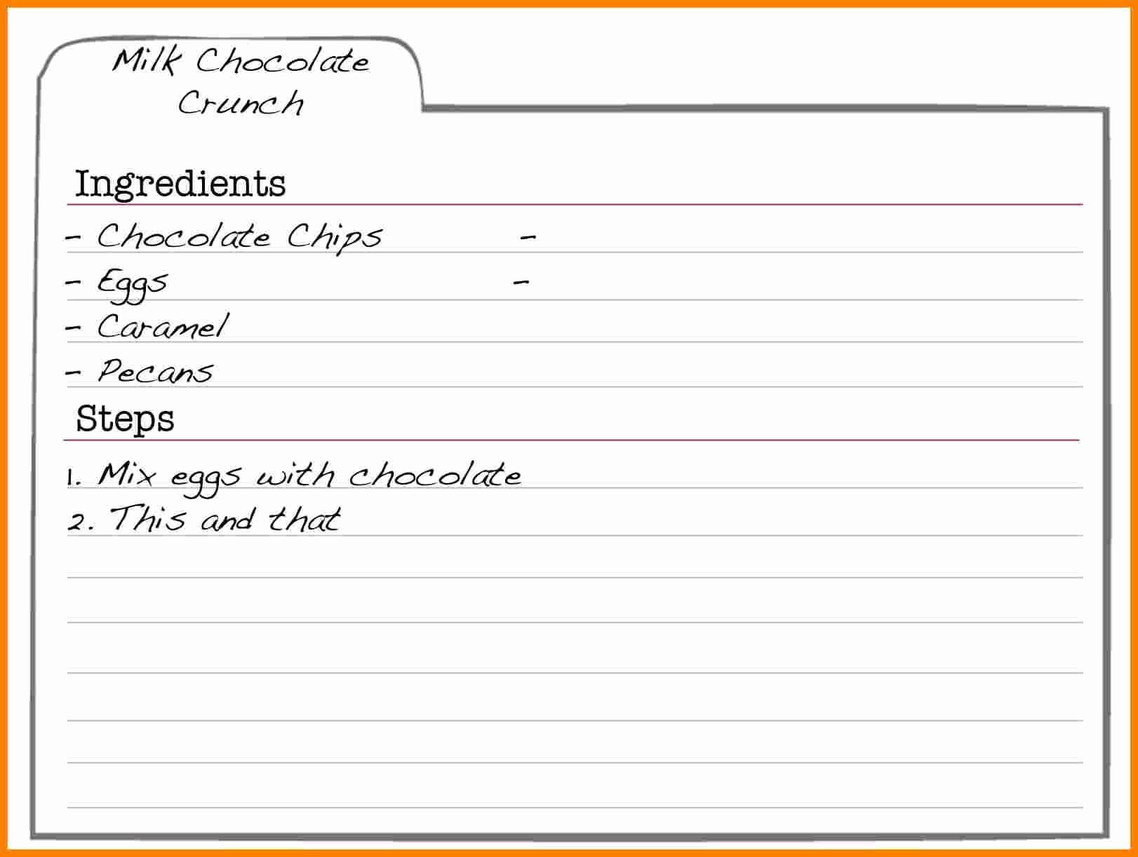003 Recipe Cards Template For Word Free Elegant Editable Pertaining To Microsoft Word Recipe Card Template
