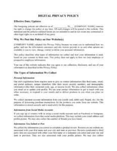 003 Template Ideas 0012214 Privacy Policy For Impressive with Credit Card Privacy Policy Template