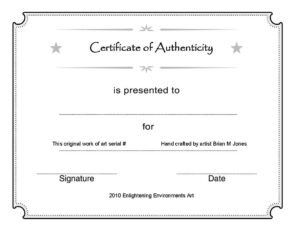 003 Template Ideas Certificate Of Authenticity Unforgettable Pertaining To Free Art Certificate Templates