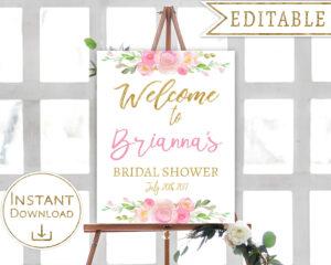 004 Bridal Shower Welcome Sign Template Astounding Ideas regarding Free Bridal Shower Banner Template