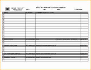 004 Sales Visit Report Template Or Call Log For Fascinating regarding Customer Site Visit Report Template