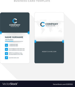 004 Template Ideas Vertical Double Sided Business Card Blue within Double Sided Business Card Template Illustrator