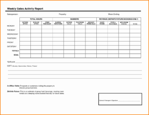 004 Weekly Sales Report Template Call For Or Fascinating with regard to Sales Trip Report Template Word