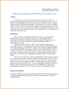 005 Formal Lab Report Example Biology Template Outstanding intended for Biology Lab Report Template