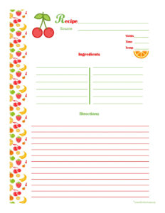 005 Free Recipe Card Templates Template Ideas Wonderful For within 4X6 Photo Card Template Free