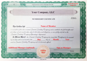 005 Llc Membership Certificate Template Member Staggering within New Member Certificate Template