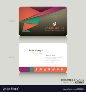 005 Modern Business Cards Design Template Vector Ideas Card with regard to Front And Back Business Card Template Word