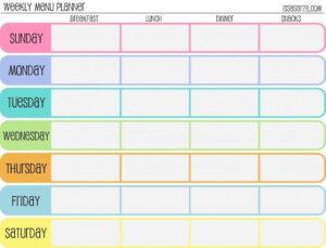 005 Plans Weekly Meal Unusual Plan Template Templates Word in Meal Plan Template Word