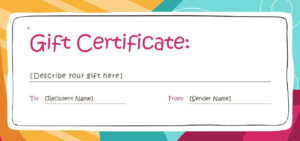 005 Printable Gift Certificate Template Ideas Free Templates within Printable Gift Certificates Templates Free
