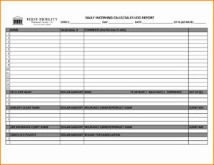 005 Sales Call Reporting Template Ideas Daily Report Free throughout Daily Sales Call Report Template Free Download
