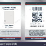 005 Simple Employee Business Name Card Template Vector With Employee Card Template Word