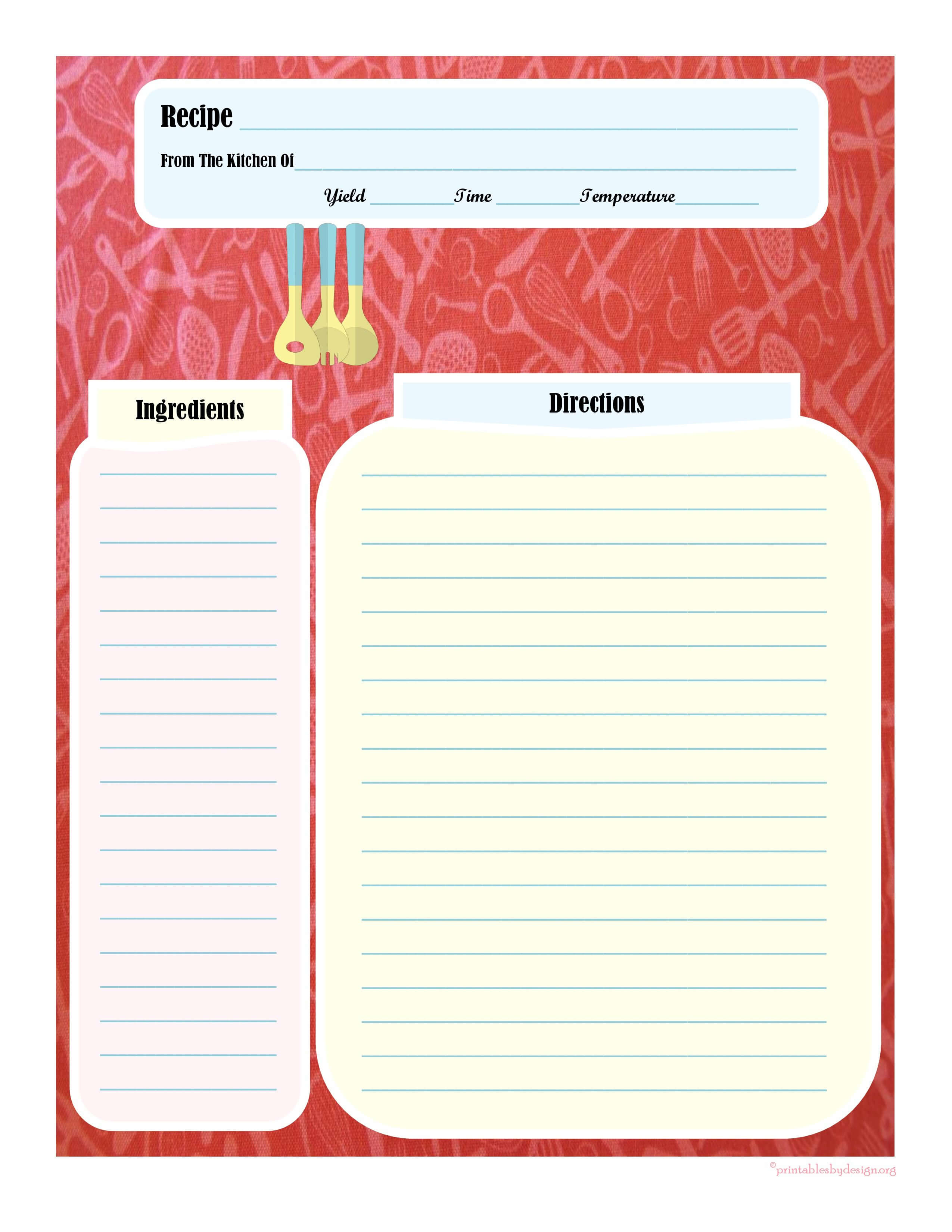 005 Template Ideas Fillable Recipe Card Impressive Free For Intended For Fillable Recipe Card Template
