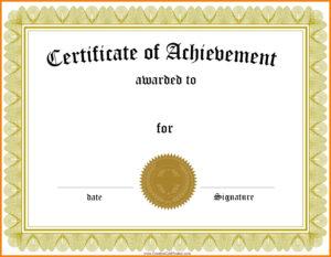 005 Template Ideas Free Family Reunion Certificates inside Word Template Certificate Of Achievement