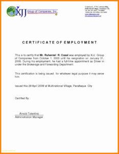 006 Certificate Of Employment Template Ideas Example In pertaining to Template Of Certificate Of Employment