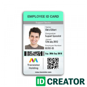 006 Employee Badge Template Vertical Id Card Ships Same Day with regard to Id Card Template Word Free