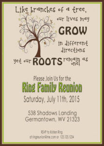 006 Family Reunion Invitation Templates Free Template Ideas with Reunion Invitation Card Templates