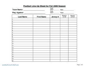 006 Football Depth Chart Template Excel Team Lineup New with Football Scouting Report Template
