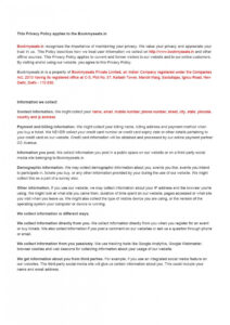 006 Privacy Policy Template For Website Impressive Ideas pertaining to Credit Card Privacy Policy Template