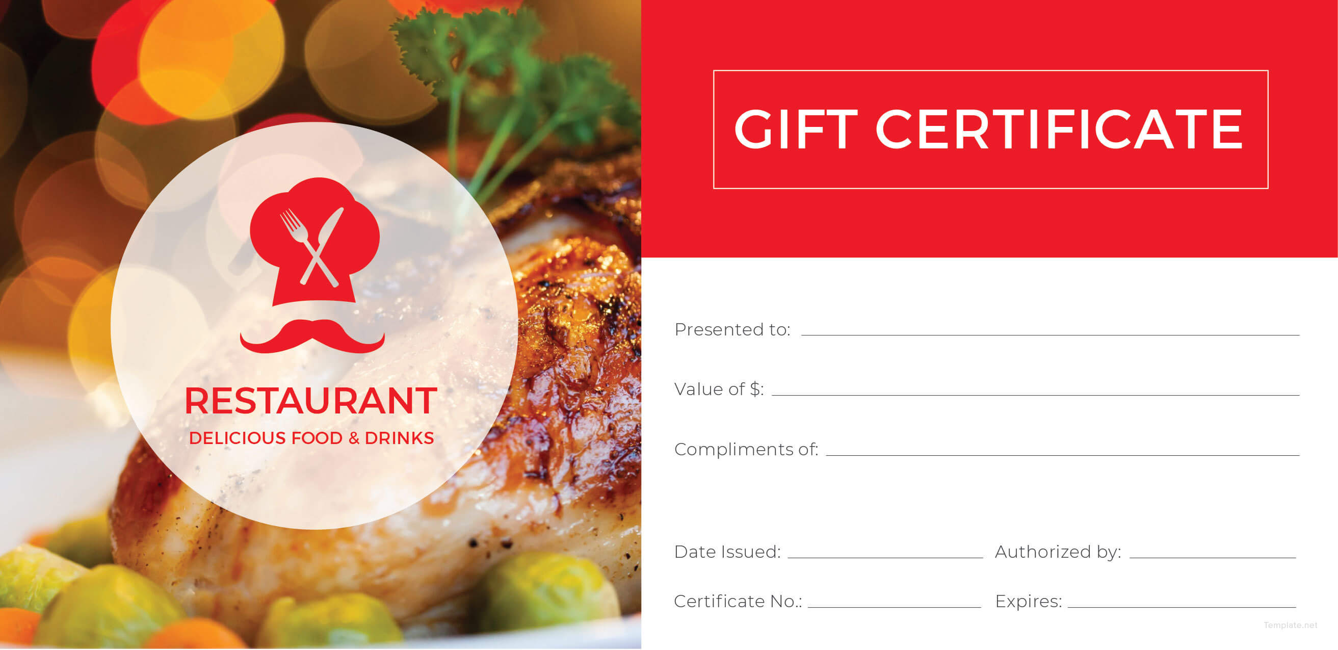 006 Restaurant Gift Certificate Template Vintage Regarding Restaurant Gift Certificate Template