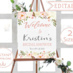 006 Template Ideas Bridal Shower Welcome Astounding Sign Within Free Bridal Shower Banner Template