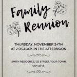 007 Family Reunion Invitations Templates Invitation Word Inside Reunion Invitation Card Templates