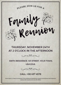 007 Family Reunion Invitations Templates Invitation Word inside Reunion Invitation Card Templates
