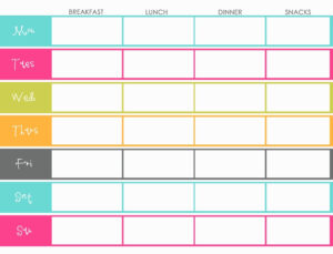 007 Free Weekly Meal Planner Template For Family Templates throughout Meal Plan Template Word
