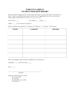 007 Student Progress Report Template Ideas Format Beautiful with regard to Student Progress Report Template