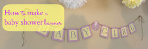 007 Template Ideas How Make Baby Shower Banner Showers regarding Diy Baby Shower Banner Template
