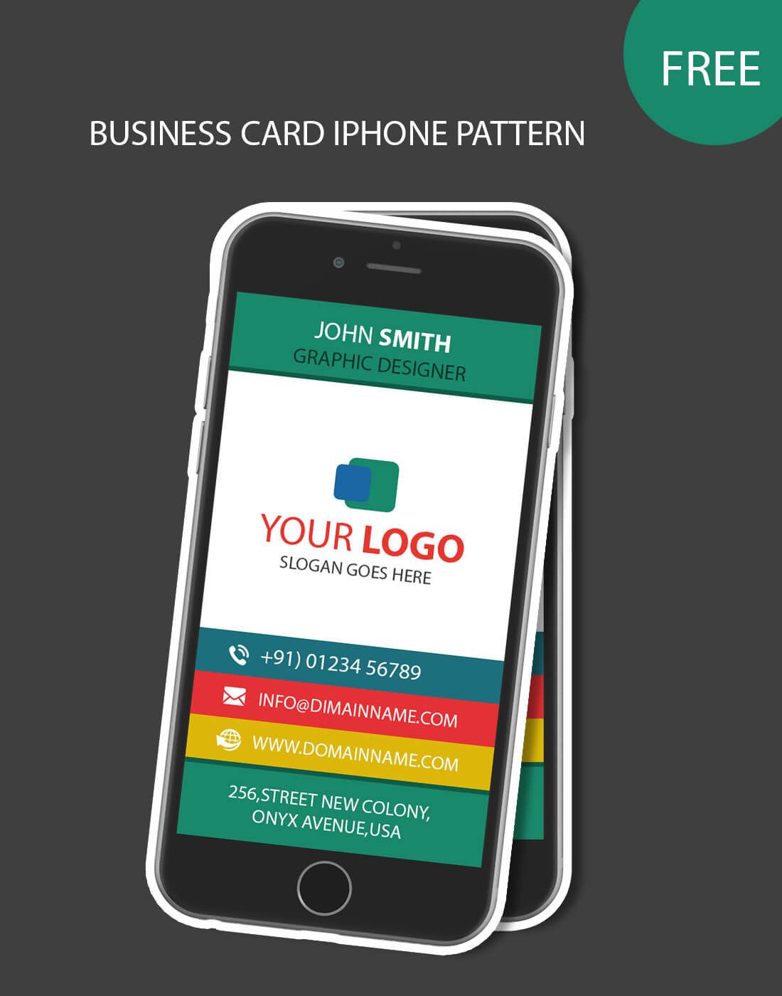 007 Template Ideas Iphone Pattern Business Archaicawful Card With Iphone Business Card Template