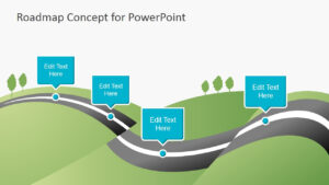 007 Template Ideas Roadmap Concept For Powerpoint Road Regarding Blank Road Map Template
