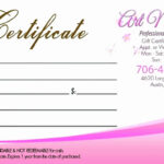007 Template Ideas Salon Gift Certificates Templates Nail with regard to Nail Gift Certificate Template Free